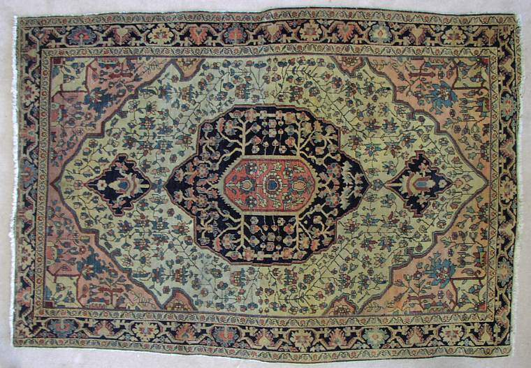 Another fine old Ferahan Sarouk dates to the late 19th Century. Acquired from an estate, it is soft and supple and has lovely antique warm colors