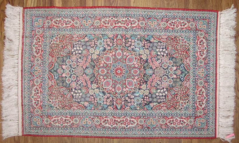 This Is A Full Shot Of The Back Rug Showing Fine Detail Work